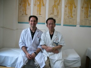 Dr. Chan, my acupuncture Professor, and I