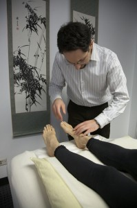 acupuncure on feet 199x300 Acupuncture and Chinese Herbs Can Help Eczema